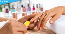 Traditional manicure with a modern touch at Sunshine Nails