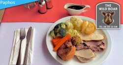 3 course Sunday Lunch for 2 people at The Wild Boar