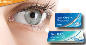 HydraGlyde Monthly or Aquacomfort Daily contact lenses from Eye Contact