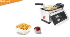 Safe, efficient, large capacity fryer