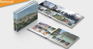 Slim Layflat 20x15cm photo albums with real photographic paper and hard customized cover.