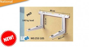 Wall brackets for air conditioning engines