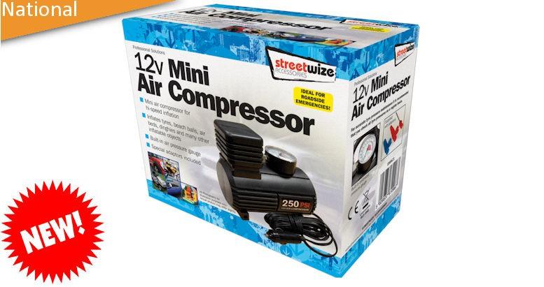 Compact tyre compressor